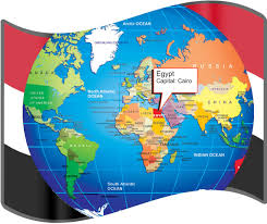large size egyptian flag and map for travelers travel around the Map Of The World Egypt Map Of The World Egypt #15 map of the world with egypt located
