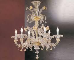 Lampadario Murano Rosa : Lampadario rezzonico vetro oro e