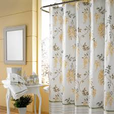 mesmerizing iron rod shower curtain target threshold curtains with flower motif and white sidetable