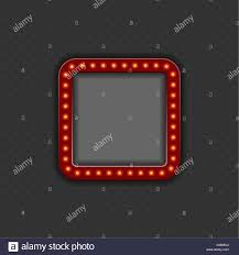 Dark Background Light Text Frame With Light Bulbs And With Space For Text Or Photo