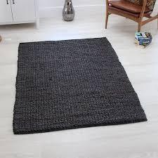 abacus jute rug charcoal