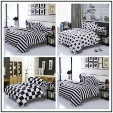black white plaid duvet cover set quilt