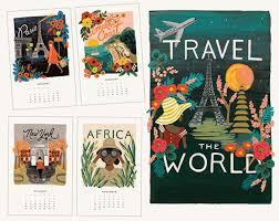 Travel Calendar Rifle Paper Co 2016 Desk Calendar Travel The World Shespeaks