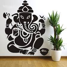 Small Picture Aliexpresscom Buy Wall decal Ganesh Buddhism India Indian