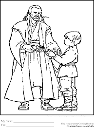 Star Wars Coloring Pages Young Luke
