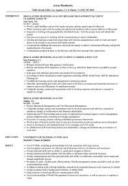 Sample Business Analyst Resume Regulatory Business Analyst Resume Samples Velvet Jobs 100