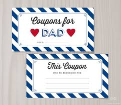 father s day blank printable coupons blank 128270zoom