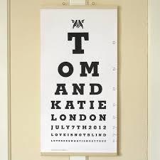 Eye Chart Typeface Couple Eye Test Chart Featuring Memphis Font