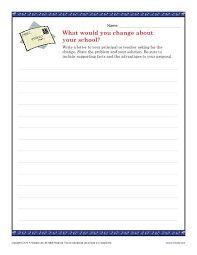 letter writing topic school change letter persuasive writing prompt for 9th 12th grade