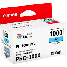 <b>Canon PFI-1000PC Photo Cyan</b> Ink Cartridge