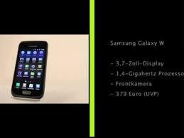 W statt S: Samsung Galaxy W im Test ...