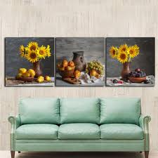 2018 still life sunflowers paintings for the kitchen fruit wall decor modern canvas art wall pictures for living room no frame from adeir 33 77 dhgate