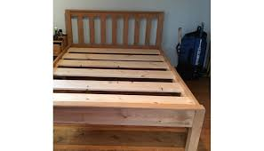 solid wood beds. Beautiful Wood Slatted Bed  Vertical Slats Inside Solid Wood Beds L