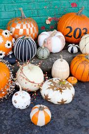 Small Pumpkin Painting Easy No Carve Pumpkin Ideas A Beautiful Mess