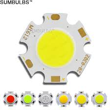 Blue Light Bulbs Bulk Us 4 2 46 Off 10pcs Bulk Sell Diameter 20mm Rounded Cob Led Light Source Chip On Board 3w 5w 7w Green Blue Red Warm Natural Cold White Bulb Dc In