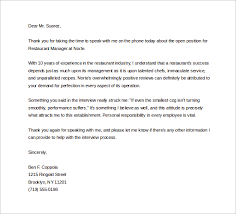 Sample Thank You Letter After Phone Interview 12 Free Documents