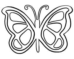 Printable Butterfly Outline Butterfly Outline Printable Coloring Pages For Kids And