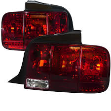 05 09 mustang taillights gen 9 standard bulbs with built in sequential blink 1