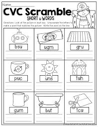Most cvc words activities suggest reading the words aloud to pronounce consonant and short vowel sounds. Cvc Scramble Unscramble The Cvc Words To Match The Picture Cvc Words Worksheets Cvc Words Kindergarten Cvc Words