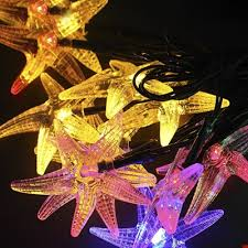 Decorative string lighting Old Fashioned Starfish 20 Leds 17ft Solar Powered Waterproof Holiday Decorative String Lighting Takeluckhome Starfish 20 Leds 17ft Solar Powered Waterproof Holiday Decorative