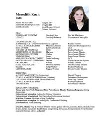 Sample Acting Resume Child Actor Awesome Guide To Writing A Basic
