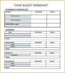 Sport Budget Template Event Planning Budget Template