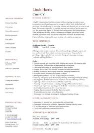 Nurse CV Example Jeens net