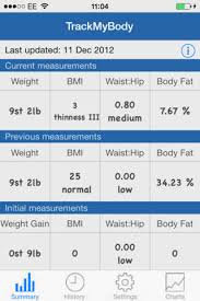 Track My Body Weight Tracking App Iphone App App Decide