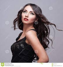 beauty woman with perfect makeup beautiful professional holiday make up purple lips