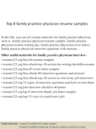 Doctor Resumes Top 8 Family Practice Physician Resume Samples