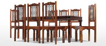 table 8 chairs. jali sheesham 200 cm thakat dining table and 8 chairs p