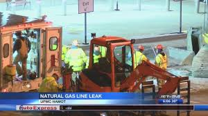 Upmc Hamot Natural Gas Line Ruptures Outside Of Upmc Hamot