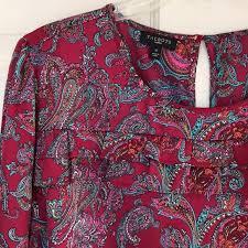 Talbots Dress Size Chart Talbots Long Sleeve Blouse