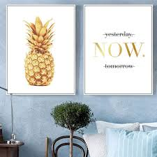 Pineapple Wall Art Canvas Posters Prints Motivational Quotes Nordic Minimalist Painting Modern Picture Home Office Room Decor