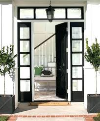 black front door with glass s oval blck glss