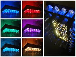 diy aluminum copper colored beer bottle led light chandelier by elemental led on instructables bottle chandelier creative