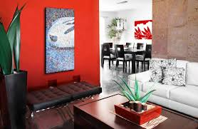 red wall art decor