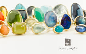 we re having a trunk show this weekend featuring the jewelry of jamie joseph and that means lots and lots of big bold and beautiful stone rings