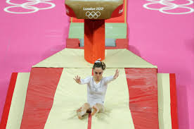 vault gymnastics mckayla maroney. Exellent Vault American Slips At The Finish Losing Her Grip On Gold For Vault Gymnastics Mckayla Maroney 0