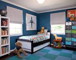 Boy's bedroom with Symphony Blue paint