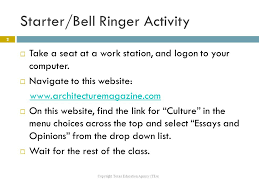 introduction to architectural journalism ppt video online 2 starter bell ringer activity