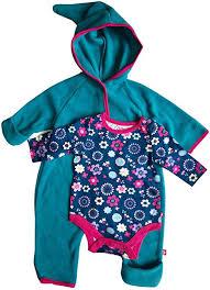 Baby Girl Hooded Fleece Bodysuit Elf Romper with ... - Amazon.com