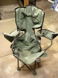 fold out camping chairs. everyone probably has one of these old fold up camping chairs laying around or seen them in the garbage. i decided to take this into shop see out