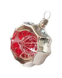 Wasserkugel Glas Ornament Mit Leonischem Draht Aus Lauscha