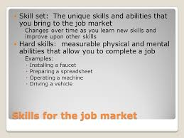 Unique Job Skills Personal Skills And The Job Market Ppt Download