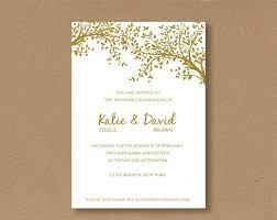 Diy Invitation Template Diy Editable And Printable Wedding Invitation Template Gold
