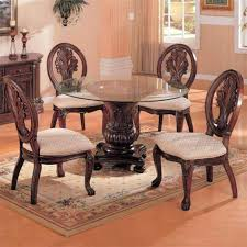 glass top pedestal dining room tables coaster traditional round dining table with glass top in cherry