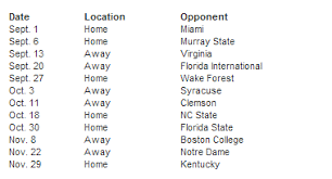 Louisville Releases 2014 15 Football Schedule Year 1 Of Acc