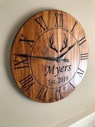 rustic wall clock 24 large wall clock