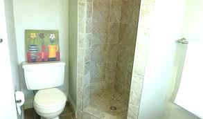 stand up shower ideas small bathroom with unique tiled alone standing